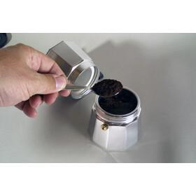 Basic Nature Bellanapoli Macchina da caffè espresso 3 tazze, argento